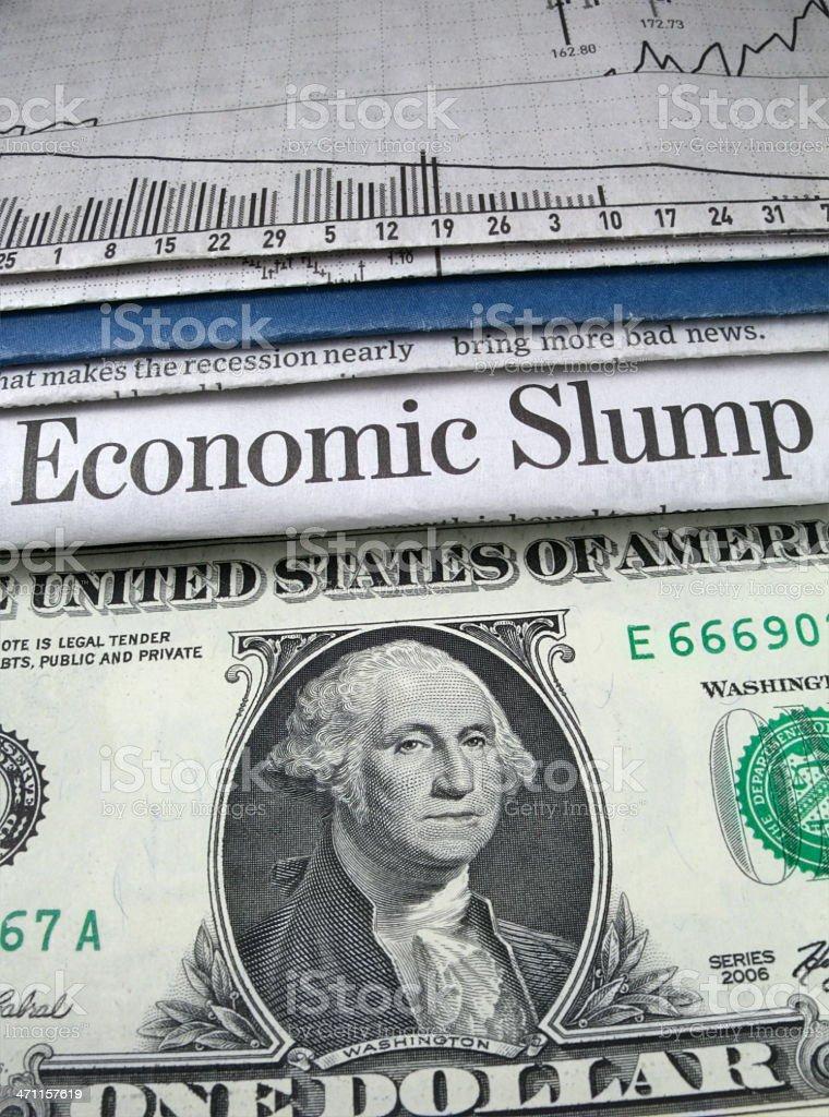 Vertical Economic Slump stock photo