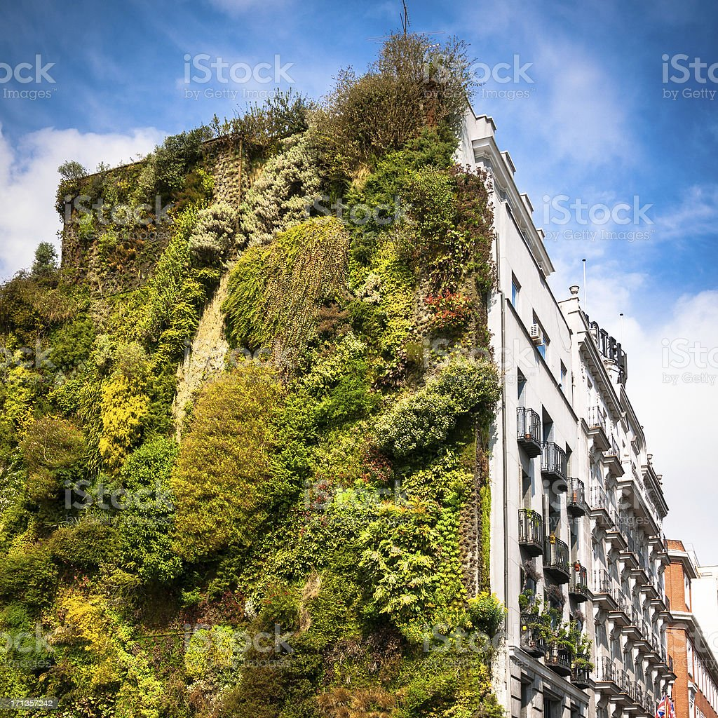 Vertical Garden Madrid stock photo