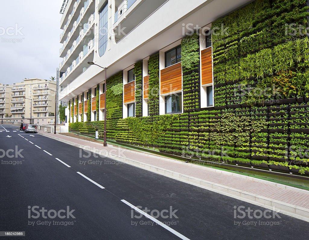 Vertical Garden Office Wall City Environmental Architecture stock photo