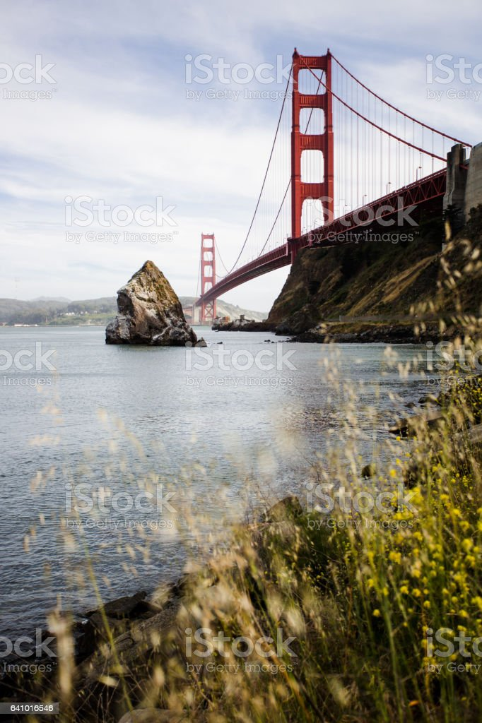 Vertical Golden Gate Bridge California Stock Photo stock photo