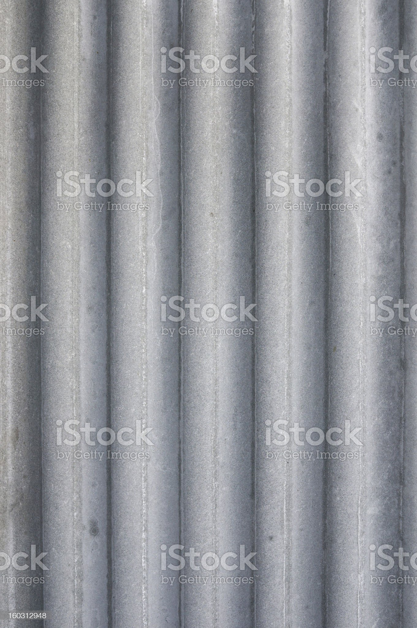 Vertical gray corrugated roof tile royalty-free stock photo