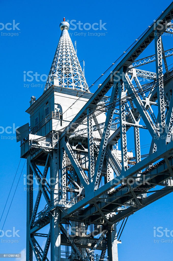 Vertical Lift Bridge Detail stock photo