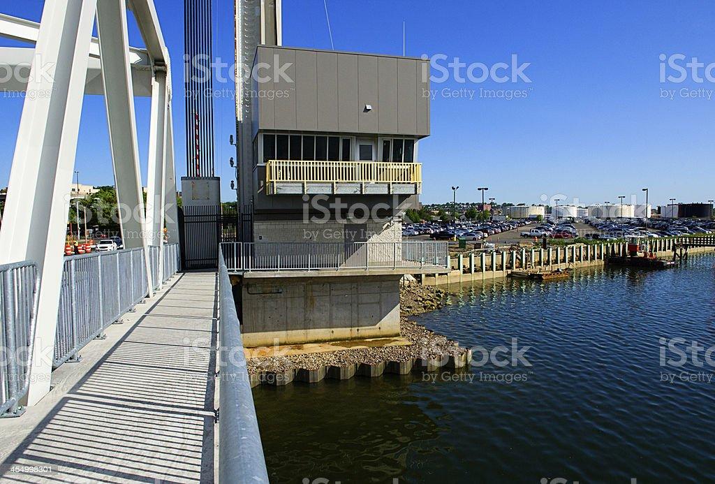 Vertical Lift Bridge stock photo