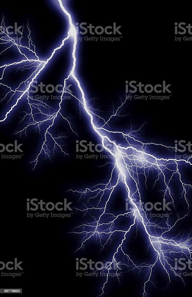 Vertical Lightning stock photo
