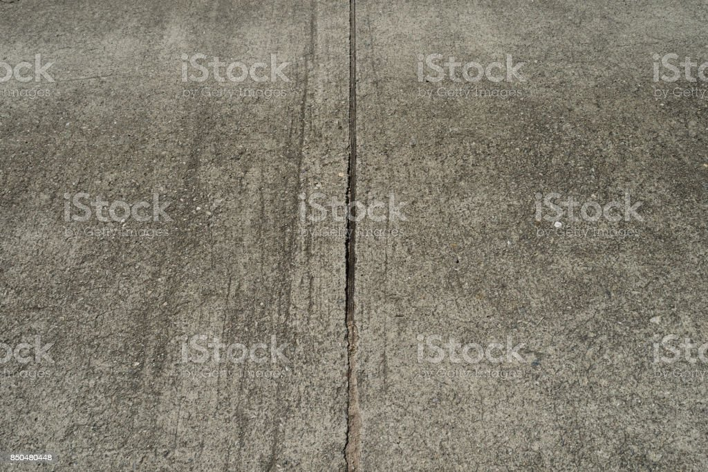 Vertical lines drawn on concrete roads stock photo