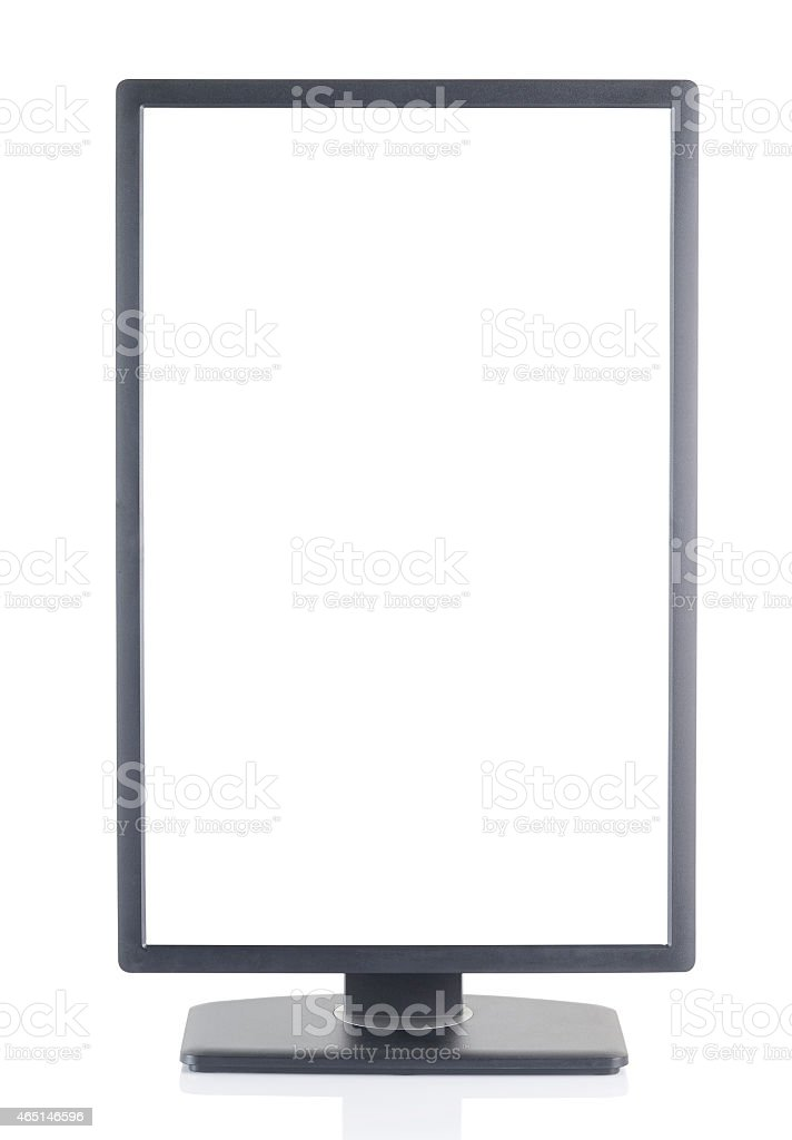 Vertical Monitor stock photo