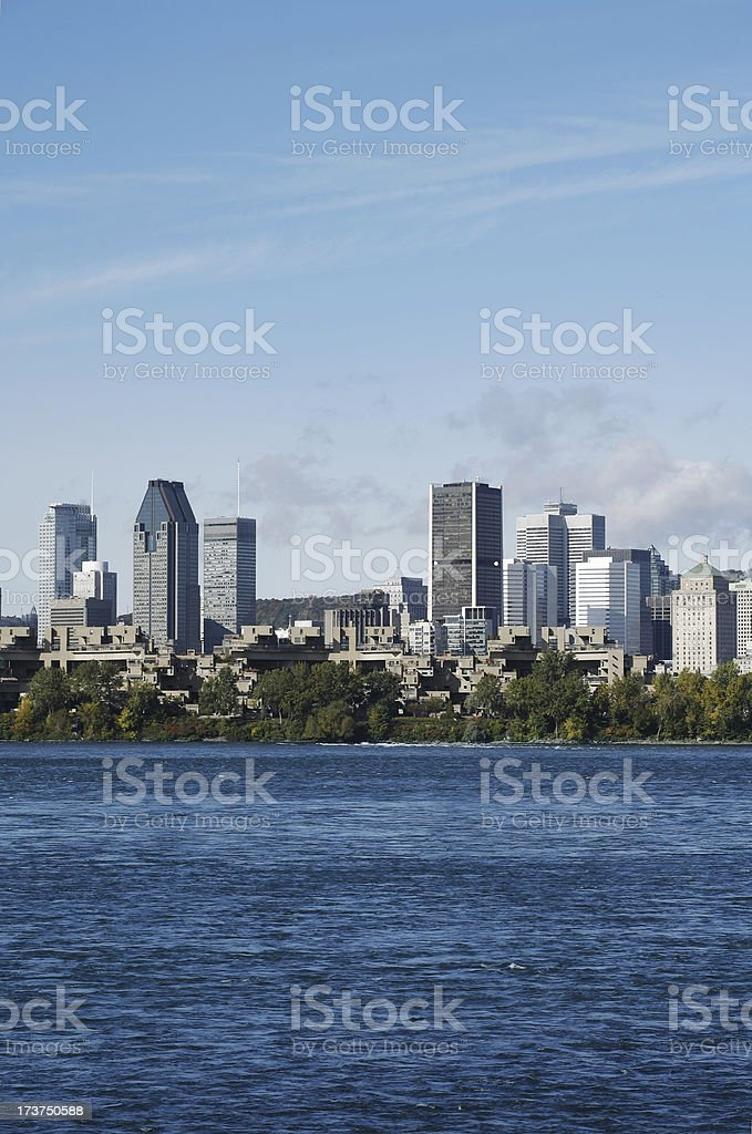Vertical Montreal skyline royalty-free stock photo