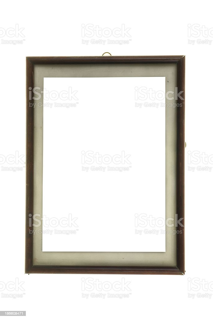 vertical old picutre frame with passepartout stock photo