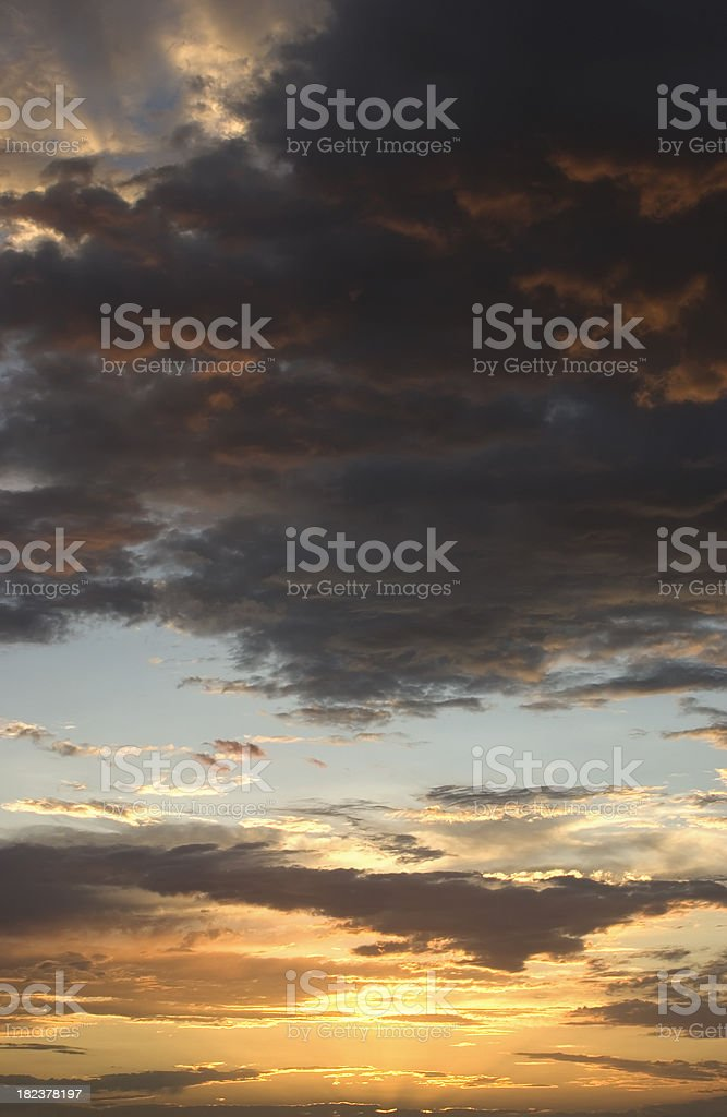 Vertical Painterly Cloudscape royalty-free stock photo