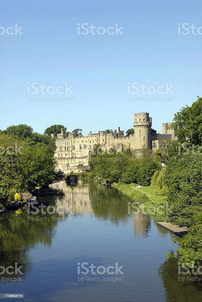 Castle reflection. stock photo