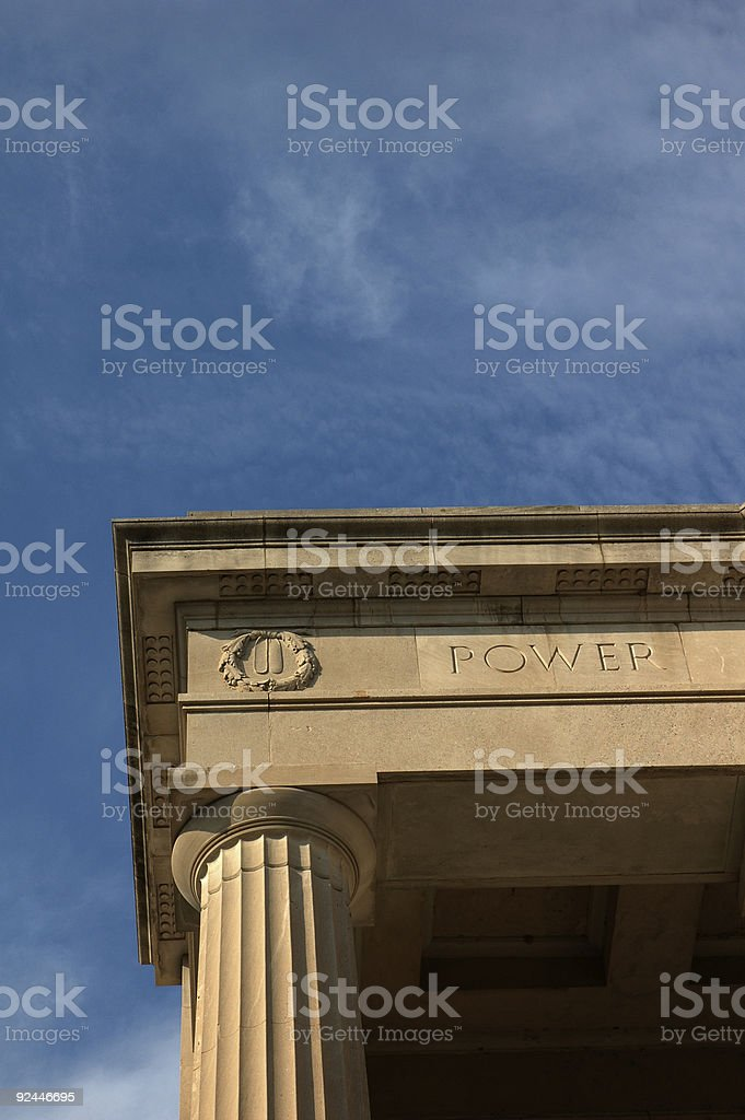 Vertical Power royalty-free stock photo
