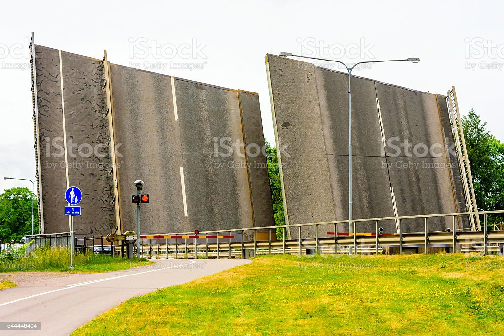 Vertical road stock photo