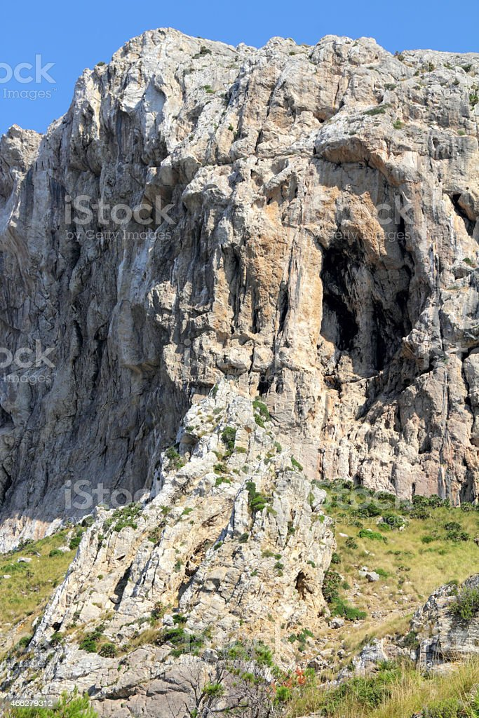 vertical rock stock photo