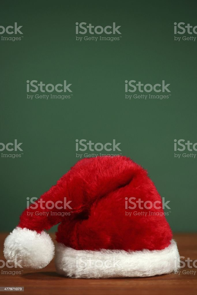 Vertical Santa Hat With Copy Spacee royalty-free stock photo