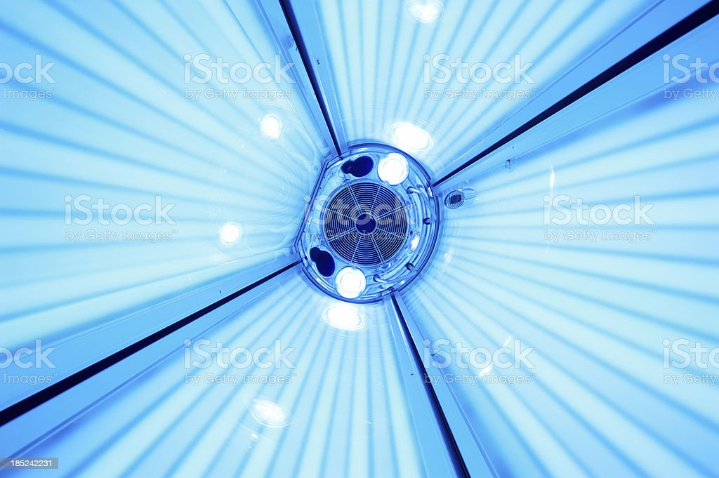 vertical solarium close up stock photo