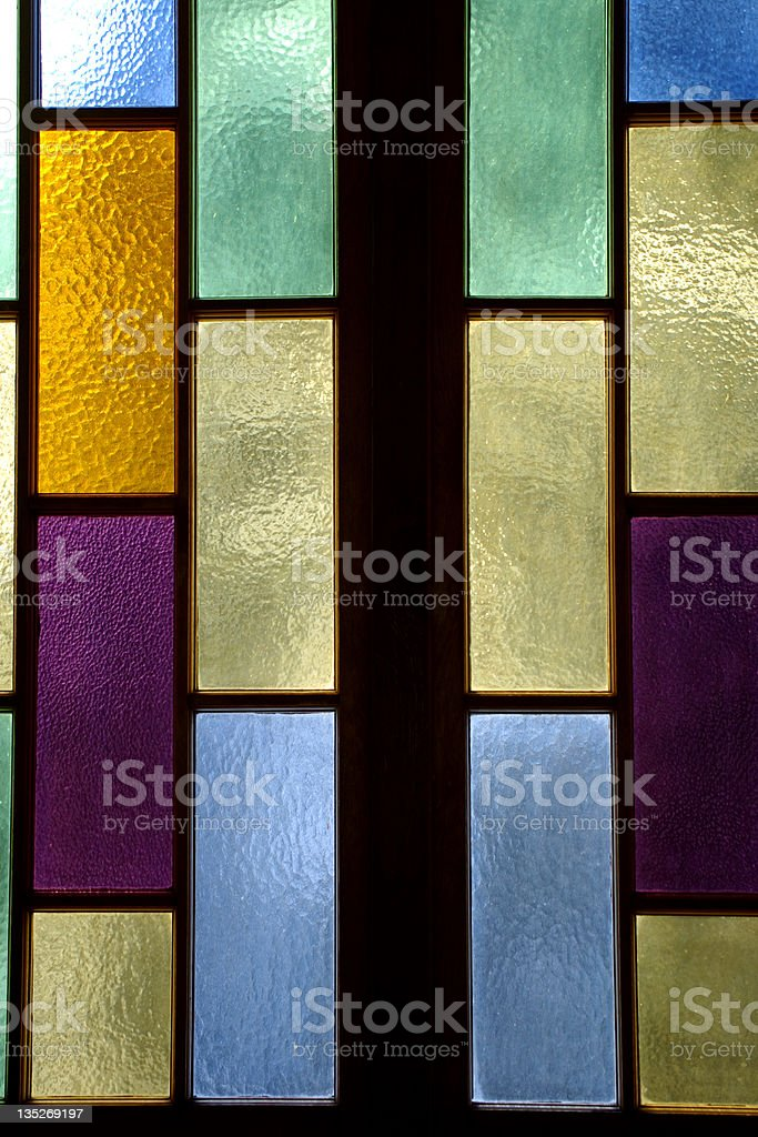 Vertical stained glass royalty-free stock photo