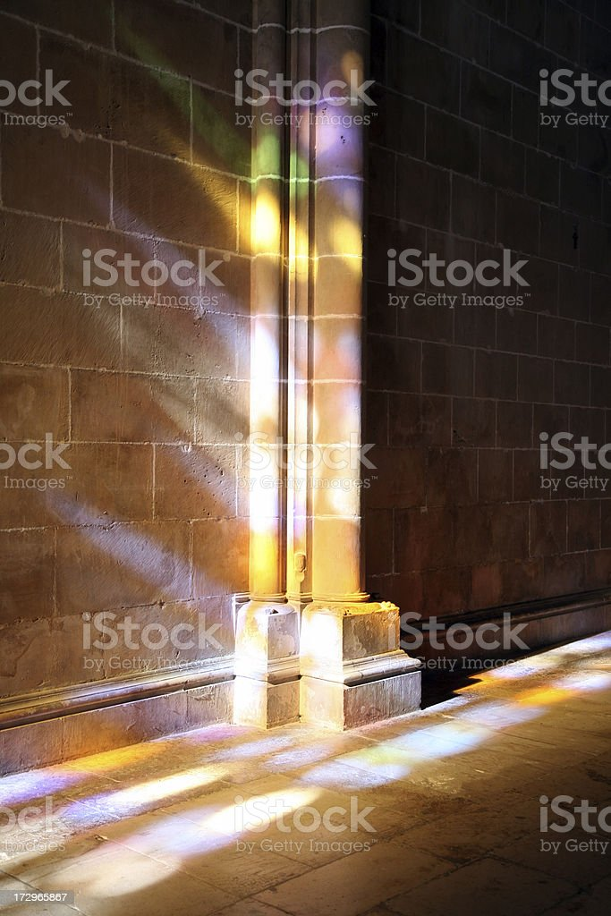 Vertical Stained glass reflex royalty-free stock photo
