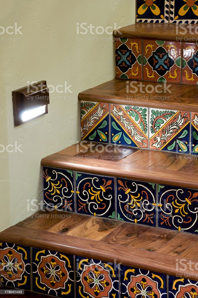 Vertical stairs and tiles royalty-free stock photo