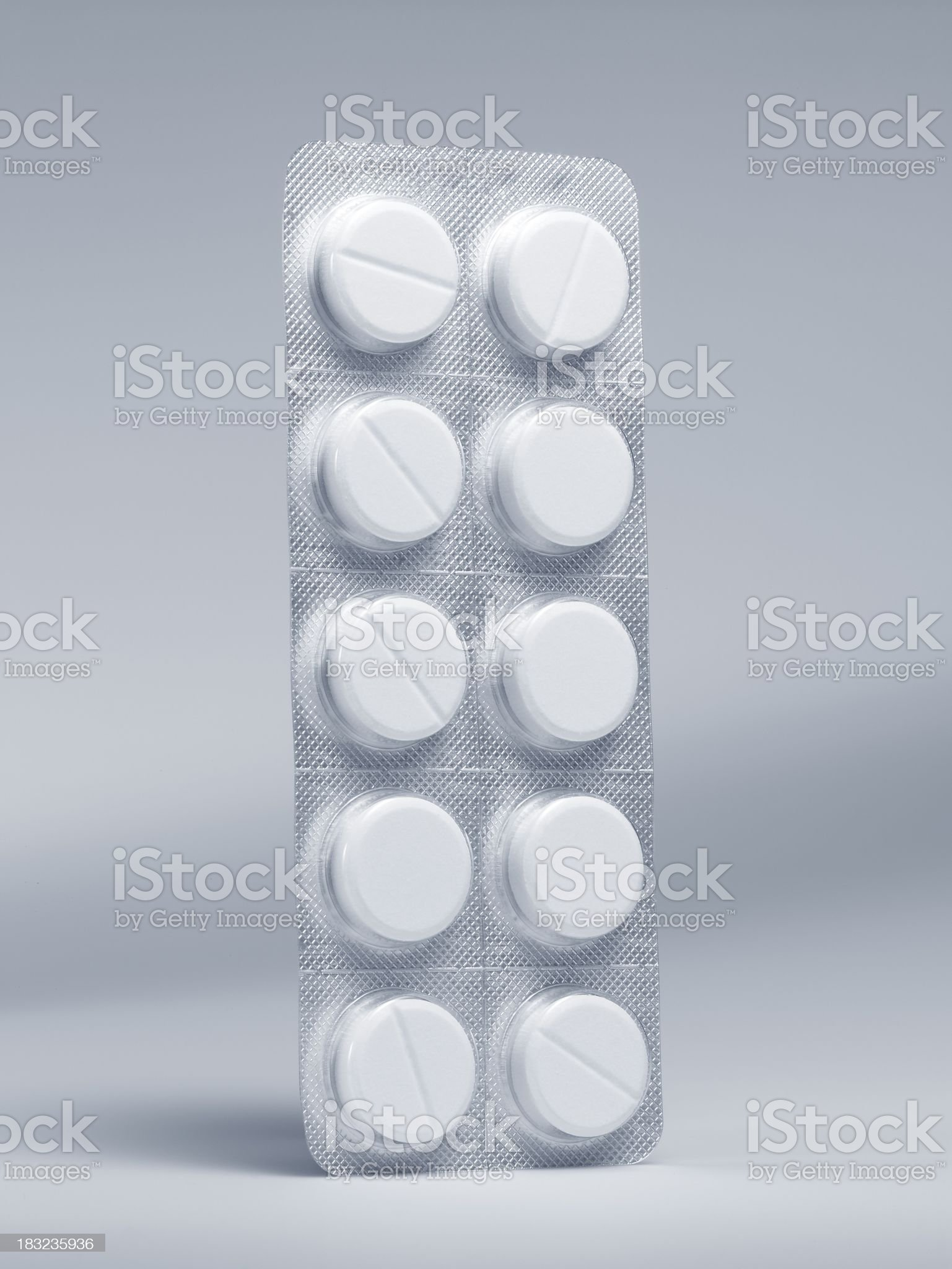Vertical standing medicine Pill tablet royalty-free stock photo
