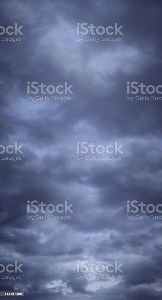 Vertical Stormy Clouds (XXL) royalty-free stock photo