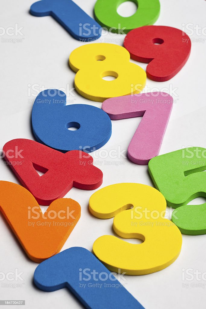 Vertical trail of numbers royalty-free stock photo