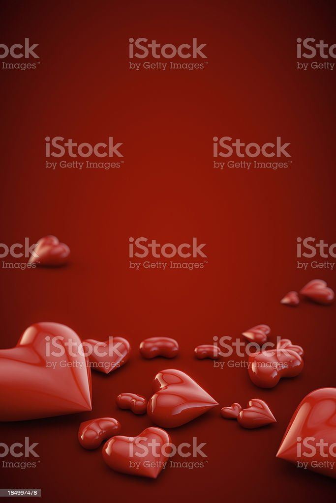 Vertical Valentine's day background royalty-free stock photo