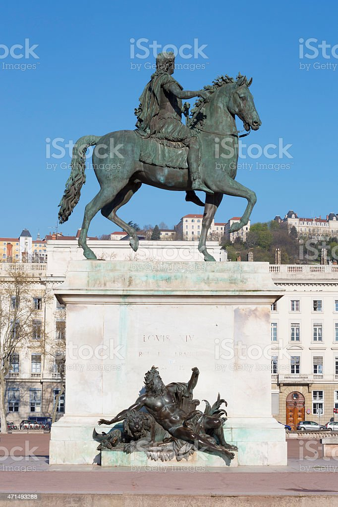 Vertical view of Statue stock photo