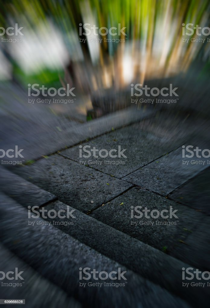 Vertical vivid stone staris motion abstraction stock photo