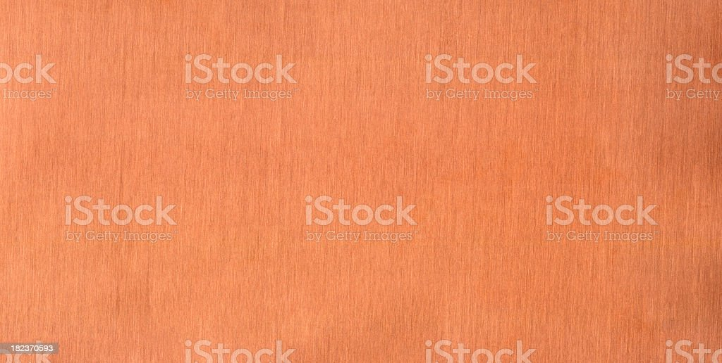 Vertically brushed copper metal panel stock photo