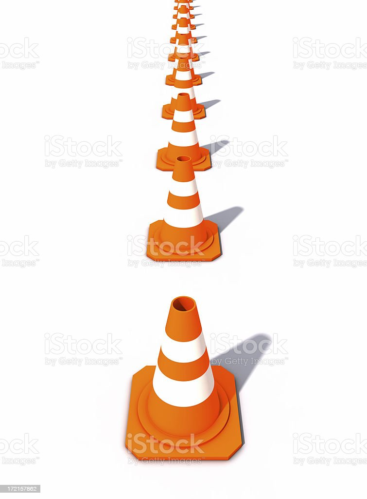 Vertically lined-up Cones royalty-free stock photo