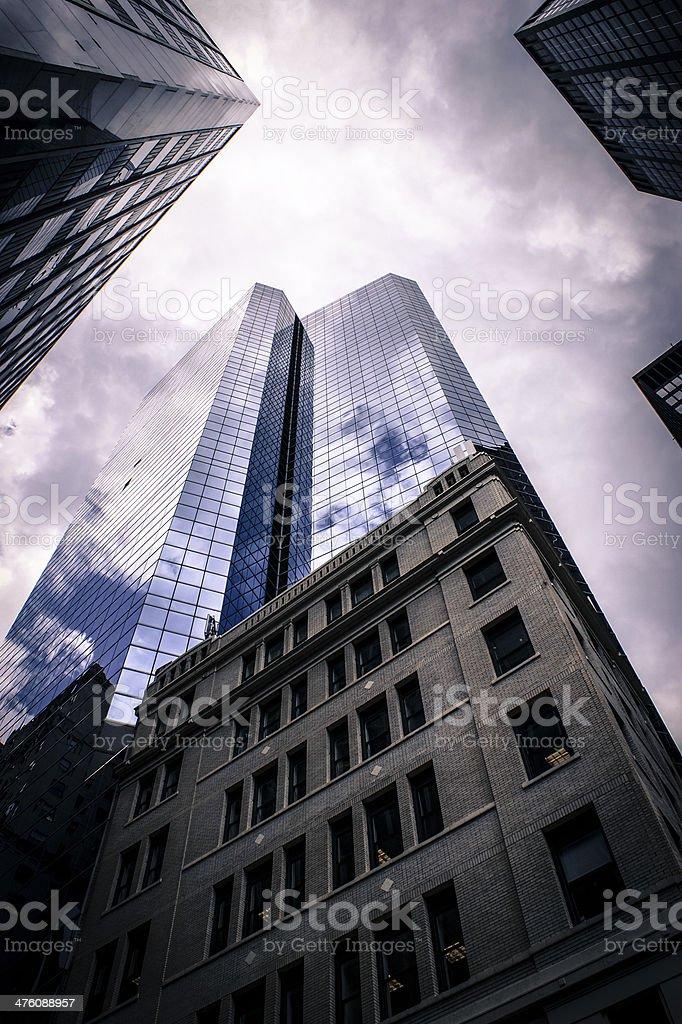 Vertiginous Buildings in New York City royalty-free stock photo