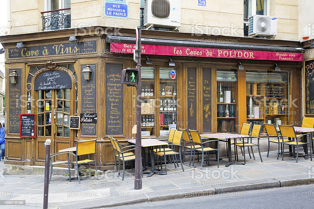 Very ancient bar in 'quartier latin', Paris royalty-free stock photo