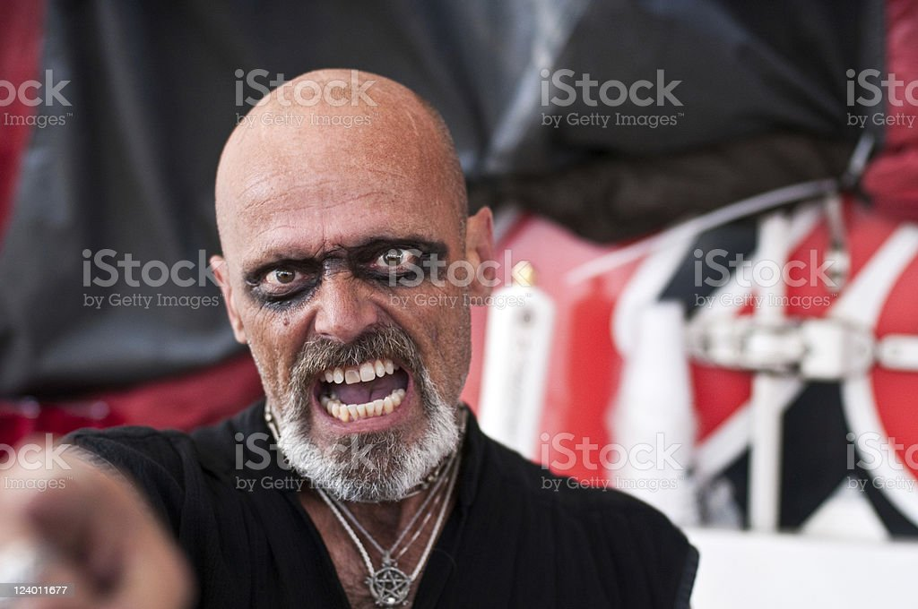 Very angry man royalty-free stock photo