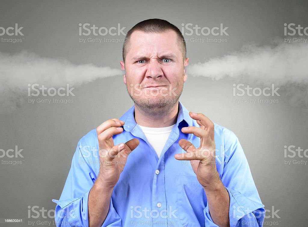 Very angry stock photo