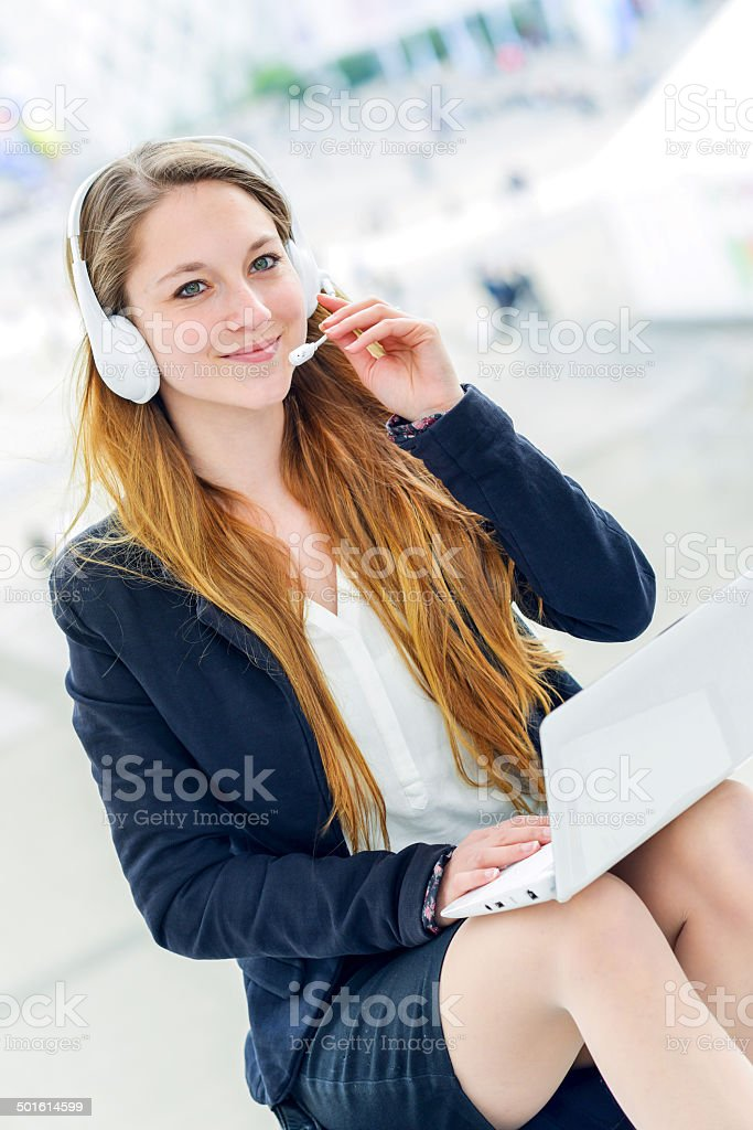 Very attractive hostess business home royalty-free stock photo