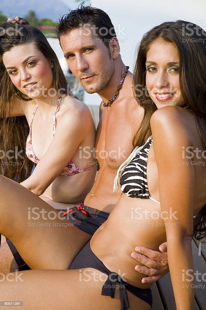Very attractive trio royalty-free stock photo