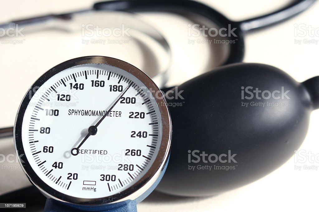 Very bad. Pressure is too high! stock photo