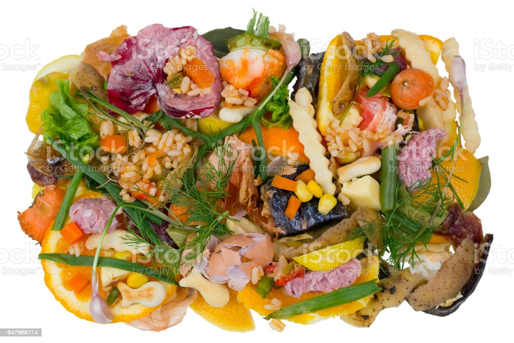 Very bad rotten dirty smelly  old food isolated concept stock photo