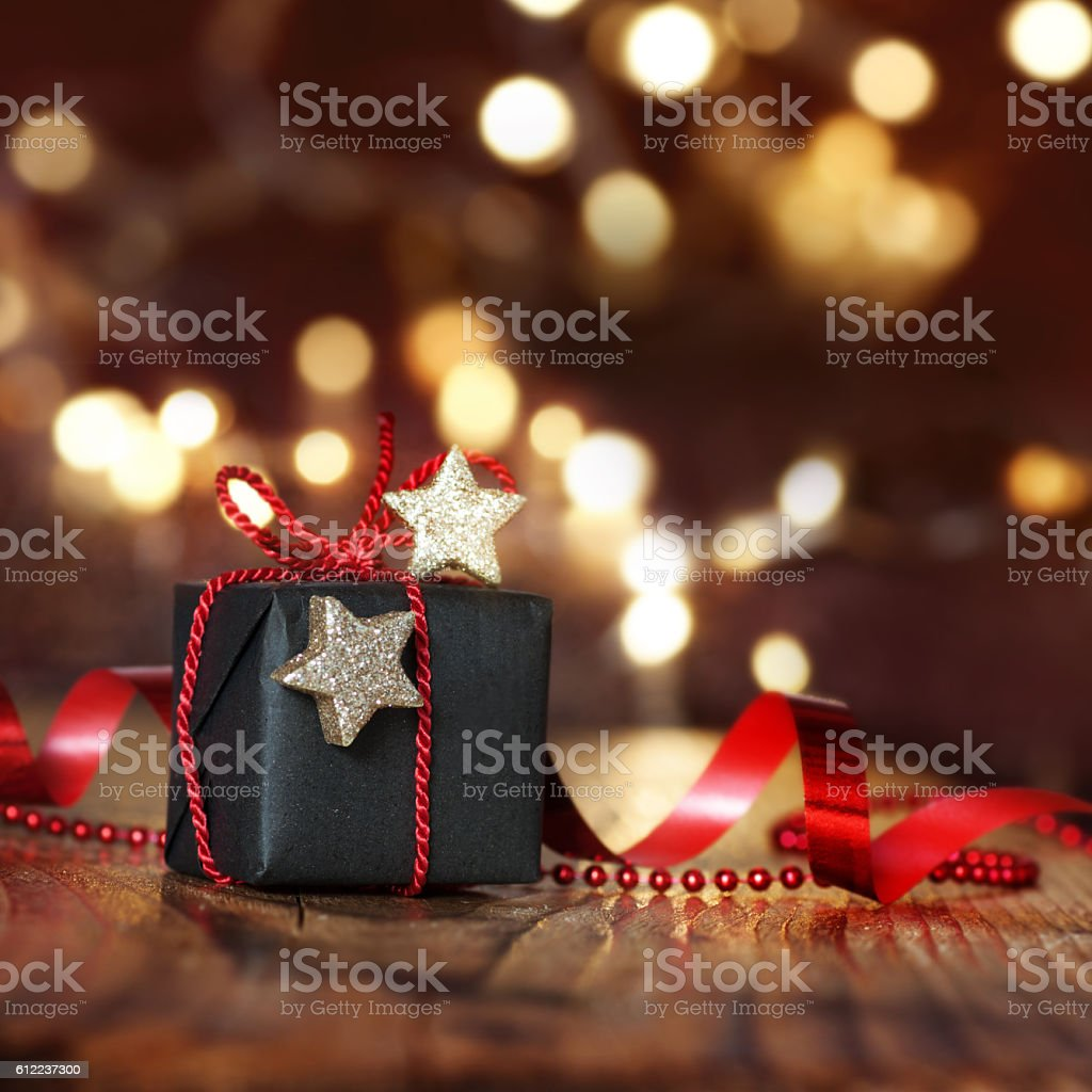 Very beautiful Christmas package stock photo