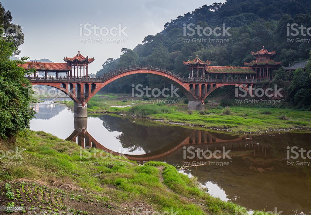 very beautiful old Chinese park stock photo
