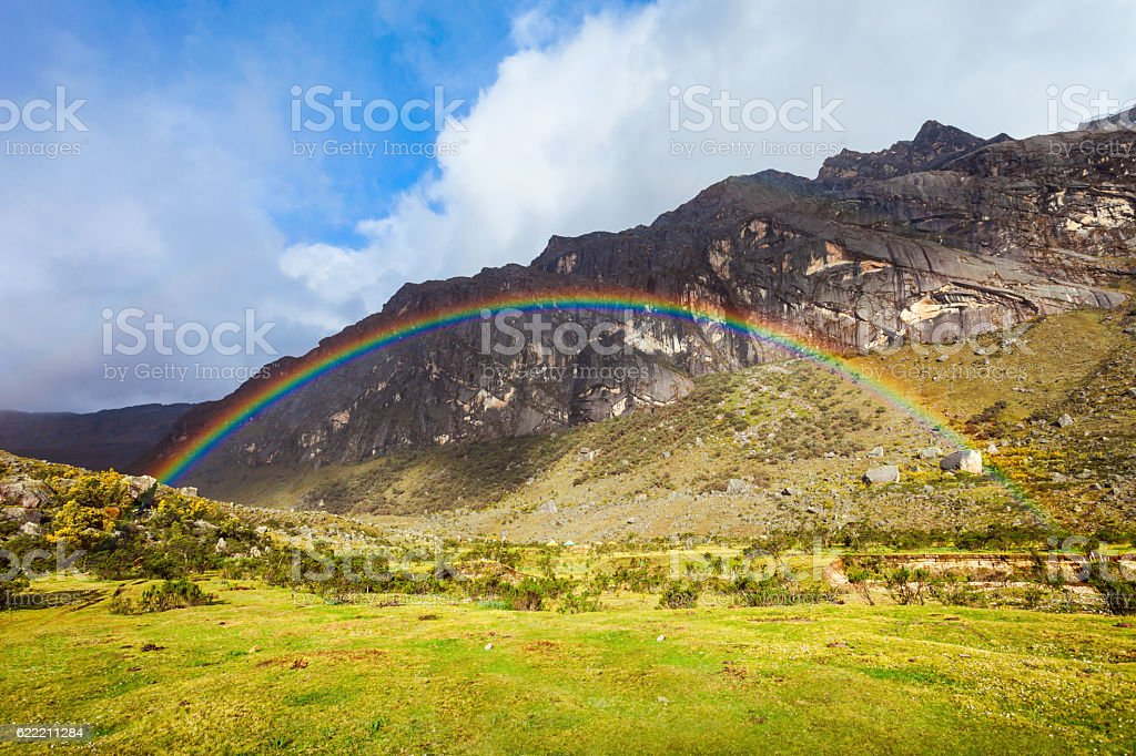 Very beautiful rainbow stock photo