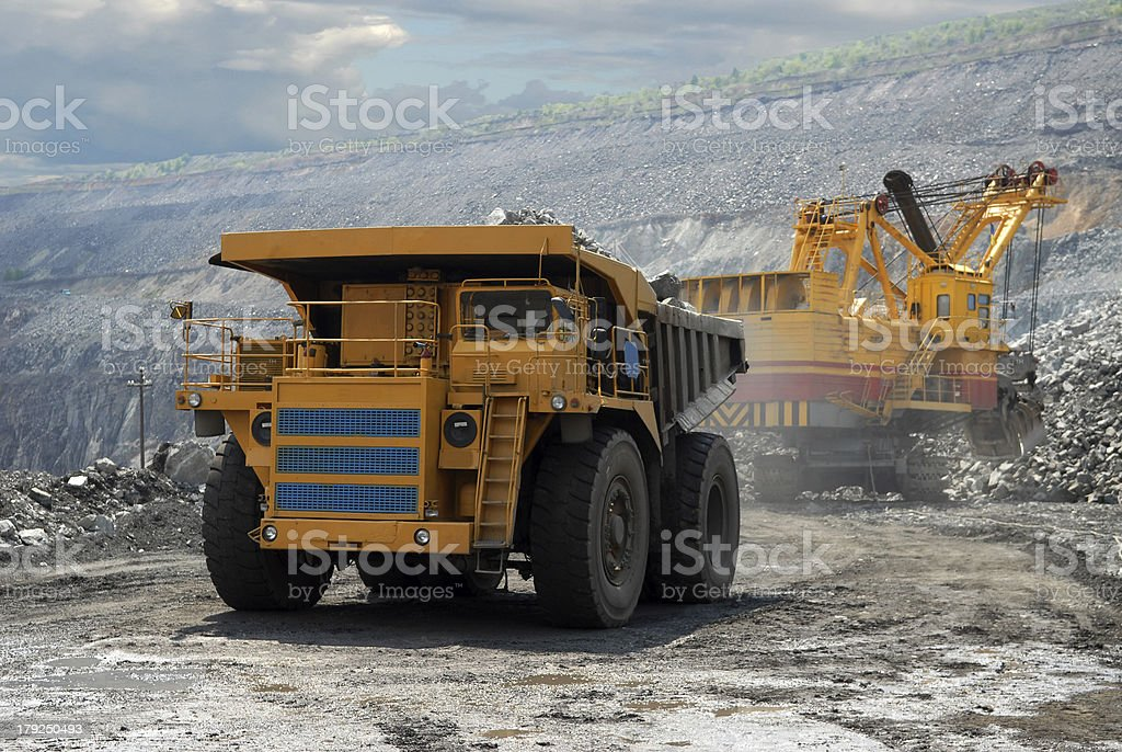 very big dump-body truck royalty-free stock photo