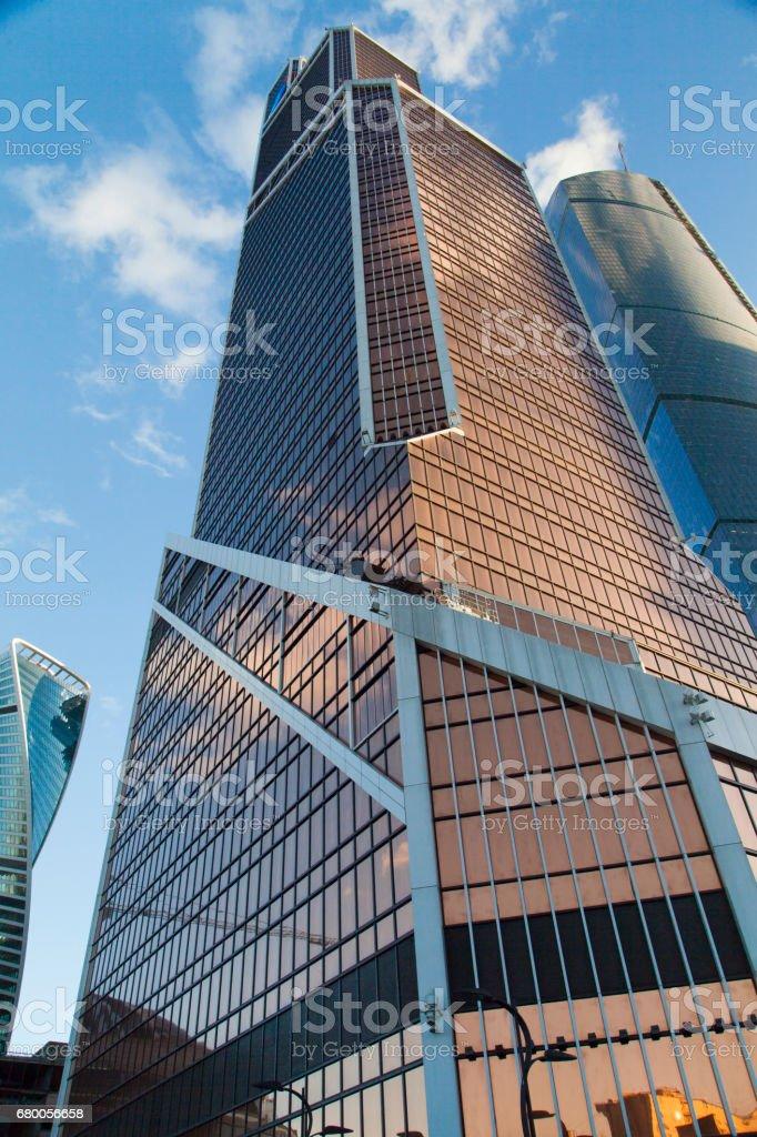 Very big skyscrapers stock photo