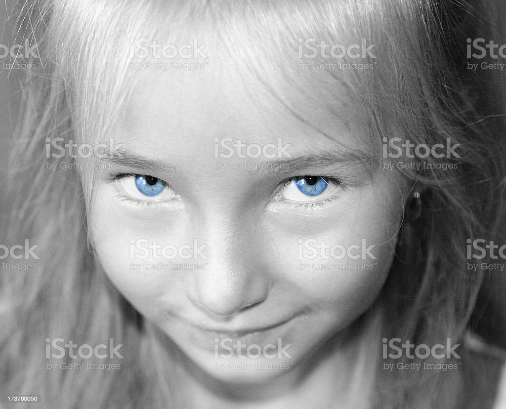very blue eyes stock photo
