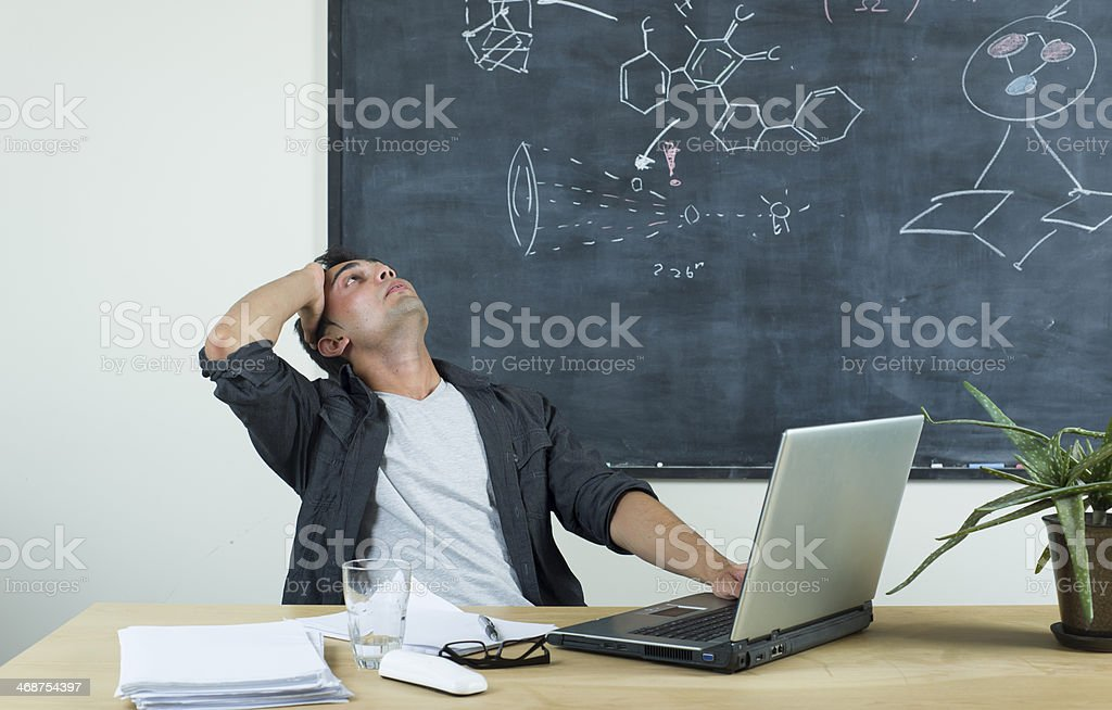 Very bored royalty-free stock photo