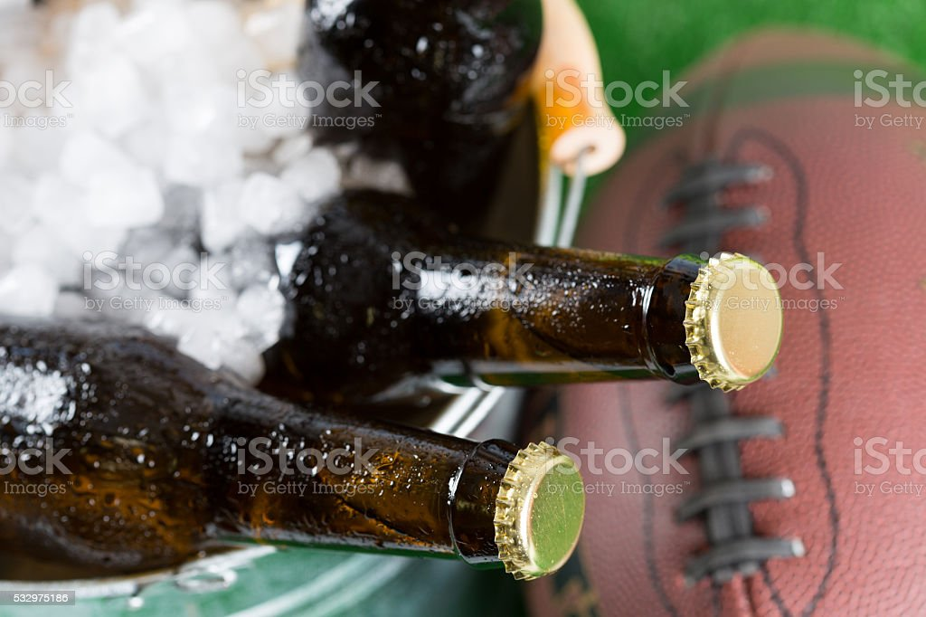 Very cold beers stock photo