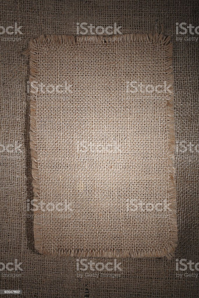 very detailed hi res burlap canvas on background stock photo