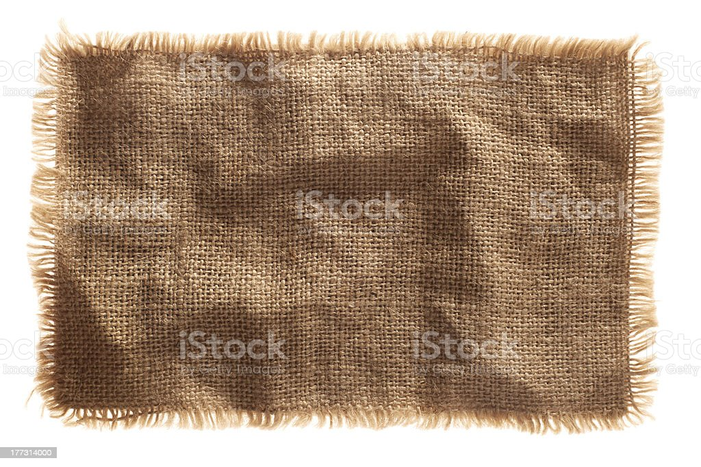very detailed hi res photo of a burlap canvas isolated stock photo