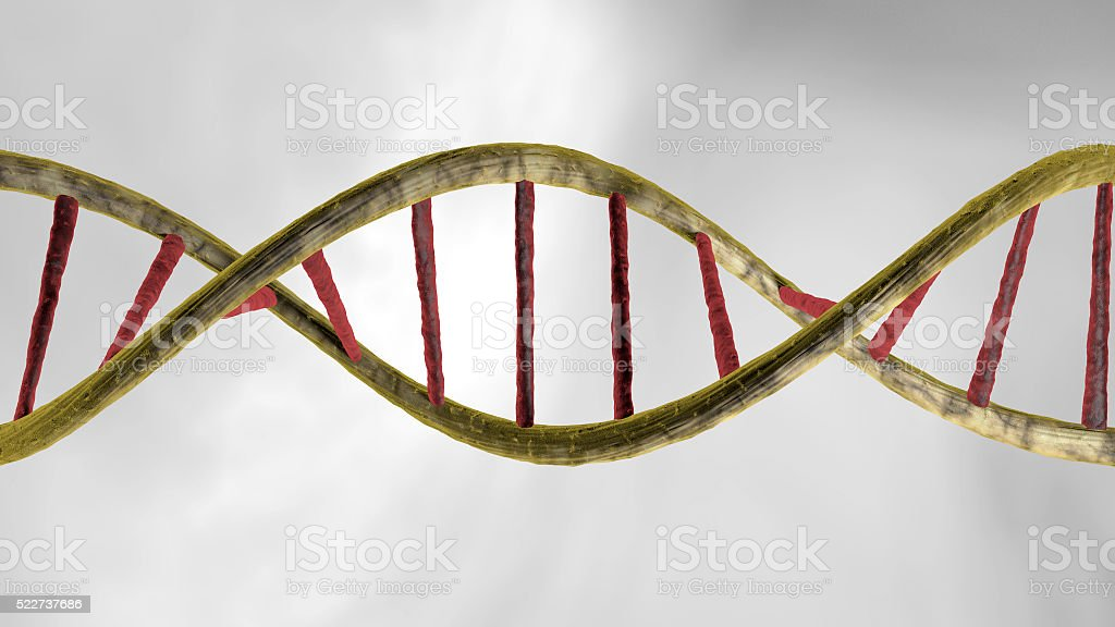 very detailed Realistic DNA over white background, stock photo