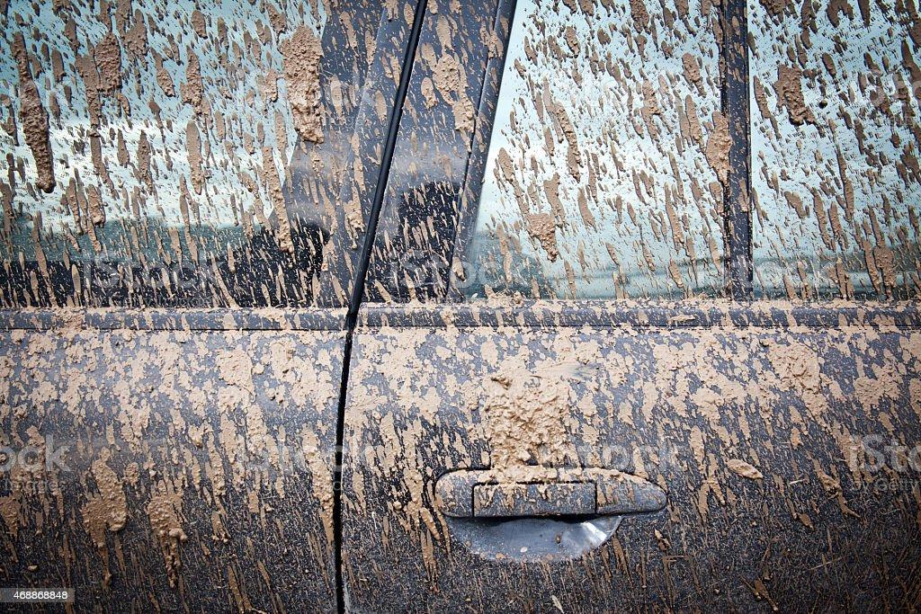 Very Dirty Car stock photo